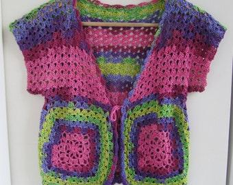Handmade crochet and handknitted bolero.....