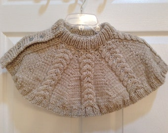 Hand-knitted capelet