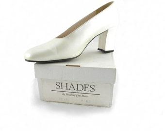Vintage Wedding Day Bridal Shoes Size 9 (40 EU)