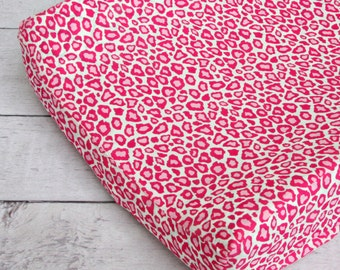25% off SALE- Pink Leopard Changing Pad Cover