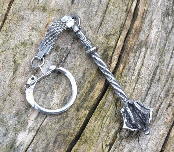 medieval mace keychain weapon keychain
