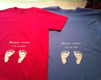 Baby gender reveal shirts