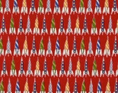 Michael Miller Children at Play Rockets Fabric in Red