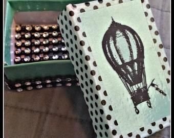 Cool, Steampunk, Hot Air Balloon, Handmade Gift Box