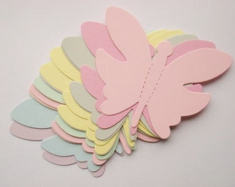 16 large Pastel Butterfly Butterflies die cuts for cards/toppers *cardmaking*scrapbooking*