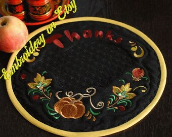 SALE!!! Thanks Pumpkin Doily -  Machine Embroidery Designs Set Ring Doily for a Thanksgiving Day