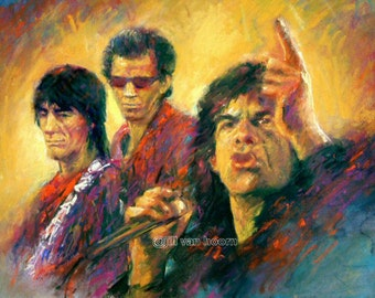 The Rolling Stones - Fine Art Poster Print