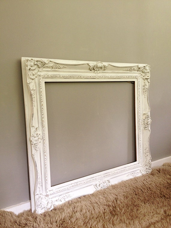 large ornate frame vintage wood baroque wall hanging leaning mirror frame shabby chic french