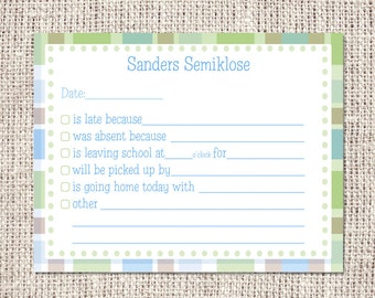 Fill In School Flat Notecards (Digital or Printed) or Notepad (Printed Only)