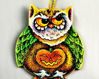 Owl and the Jack-o-Lantern Ornament