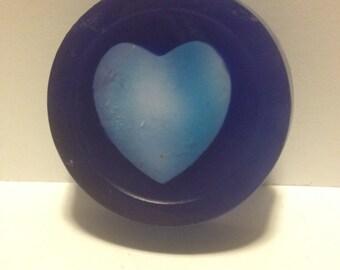 Heart-shape embedded soap - goats milk soap  - set of 10