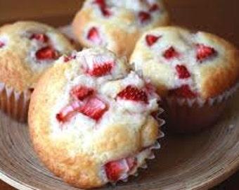 Homemade Strawberry Muffins/12 ct./Gluten Free Muffins/Sugar Free Muffins/Vegan Muffins/Edible Gift//Birthday/Anniversary Gift