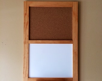 Items Similar To Distressed Framed Cork Chalk Or Dry