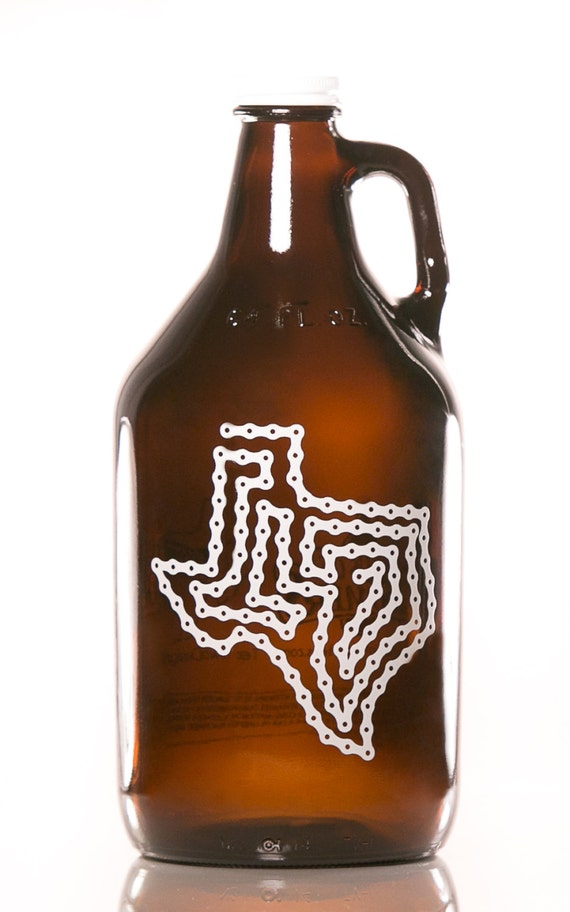 Texas bike chain 64 oz growler for Craft beer cycling jerseys