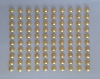 100 Ct. Yellow Pearl Embellishments