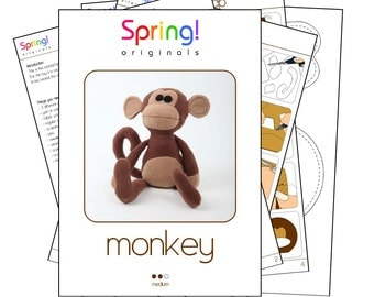 Monkey pattern and manual (A4 and Letter)