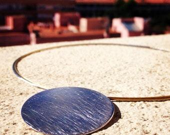RODONES Rhodium silver pendant