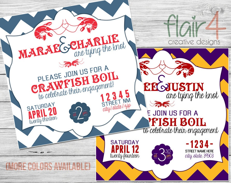 This is a picture of Influential Crawfish Boil Invitations Free Printable