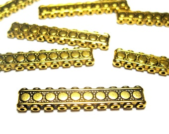 10pcs Antique Gold Metal Spacer Bar Links Connectors 32x6mm