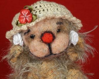 """Artist bear """"VALENTINE"""" (Be my Valentine), 11.5 cm., from Ursinas Bärennest Artist Teddy"""