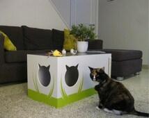 cat furniture litter box