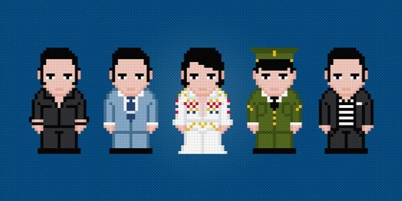 Elvis Presley - Digital PDF Cross Stitch Pattern
