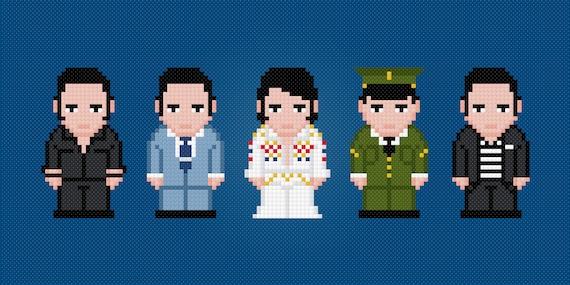 Elvis Presley - Digital PDF Cross Stitch Pattern