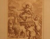 Pietro da Cortona antique 18c etching print Triumph of Ceres after by Giuseppe Zocchi c1760 Worldwide freight