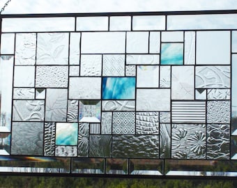 Touch Of Blue Stained Glass Panel With Gorgeous Blue Stained Glass  Surrounded By Beautiful Clear Patterned Part 34