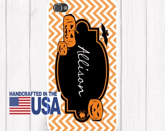 Chevron Jack-o-lantern Happy Halloween Phone Case Halloween iPhone 6/6S, iPhone 5/5S, iPhone SE, Samsung iPhone7 iPhone 7