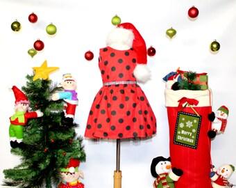 Ladybug Dress, Red / Black Dot Dress, Style 834