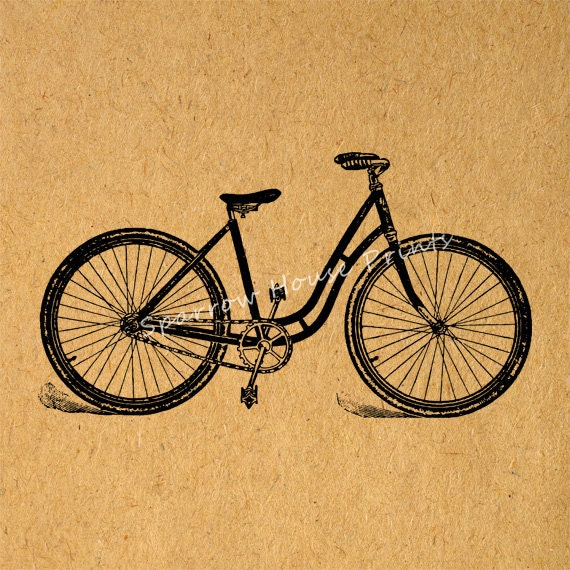 Vintage art bicycle wall art bike home decor antique for Bicycle decorations home