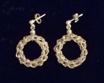 Hooked braided Wire Earrings