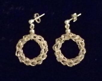 Hooked braided Wire Earrings