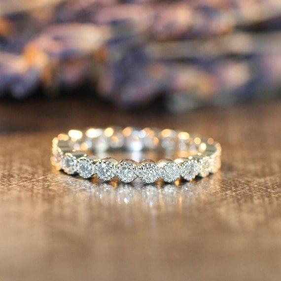 Items Similar To Vintage Inspired Diamond Eternity Band In