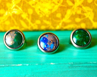 """Acrylic """"Gemocite"""" Stones Mounted in Rims 1/2"""" (11mm) 25pices/package"""