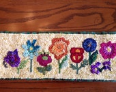 "Primitive Posies Mini Rug Hooking/Punch Needle Pattern (appr. 18"" x 6"")"