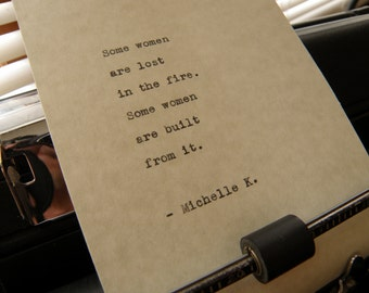 """Michelle K Quote, """"Some Women Are Lost..."""" Hand-typed on Vintage Typewriter"""