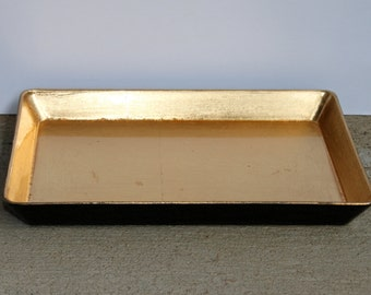 Vintage gold lacquered tray