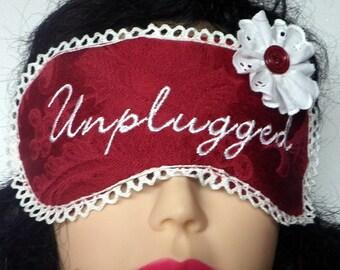 Embroidered Sleeping Mask, Red Eye Mask, Yoga eye mask, Meditation Yoga Eye Pillow, Sleep Mask
