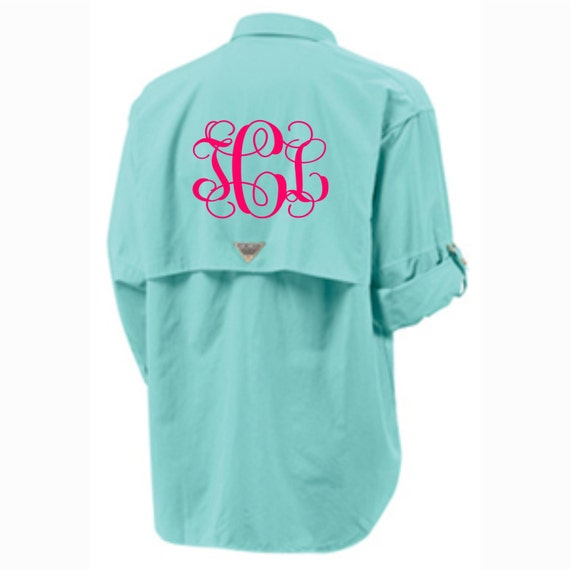 Monogram Columbia Fishing Shirt Personalized Cover By