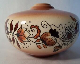 Vintage Lamp Base Hand Painted Ceramic      S458