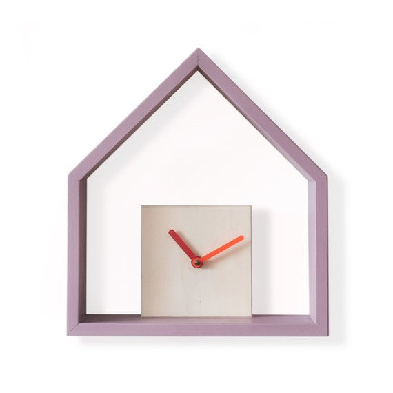Decorative Wall Clock Instructions : Modern wooden wall clock with decorative by