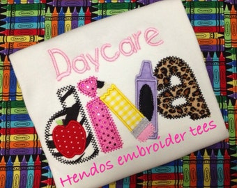 Daycare Diva embroidered shirt