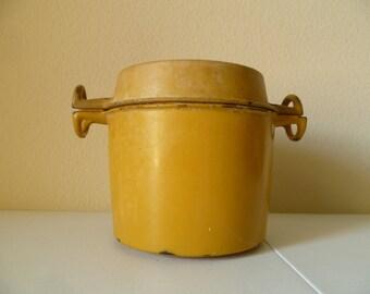 Vintage Enameled Cast Iron Pan
