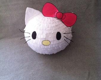 Kitty with bow piñata