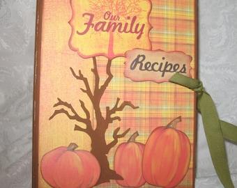Thanksgiving Recipe/Photo Album