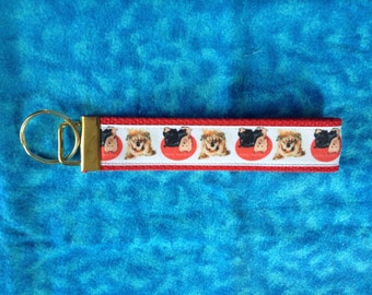 Yorkshire Terrier ( Yorkie) wristlet key fob holder keychain