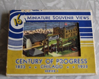 Century of Progress 1833 - 1933 Miniature Souvenir Views - cards from the Chicago Worlds Fair