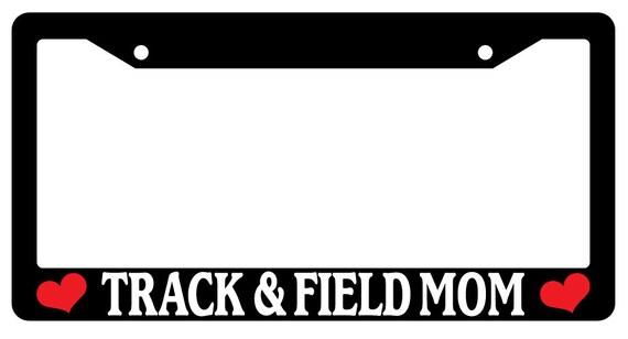 license plate frame track field mom auto. Black Bedroom Furniture Sets. Home Design Ideas
